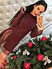 Платье трикотаж премиум с кружевом 330, фото 5