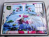 Постельное белье АХ 5D евро, подарочная коробка +сумка, расцветки варьируются
