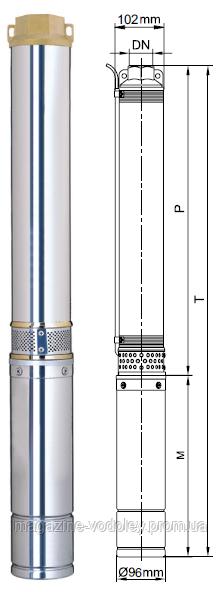 4SD 8/27 ( номинал 8 куб/ч,100м )