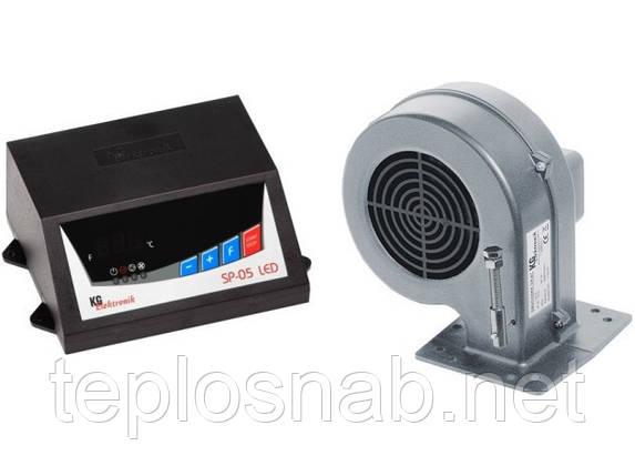 Комплект автоматики для твердотопливных котлов KG Elektronik SP-05 LED и вентилятор DP-02, фото 2