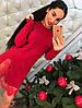 Платье-туника трикотаж с гипюром 405, фото 3