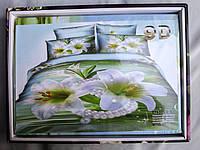 Постельное белье  Prali  9D евро, подарочная коробка +сумка, расцветки варьируются, фото 1