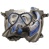Набор Marlin FLORIDA blue/black р-р L-XL (42-45) (ласты FLORIDA открытая пятка blue/black, трубка HAVANA blue, маска CUBA blue)