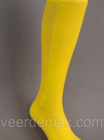 Гетры футбольные однотонные  ( плотные, усиленная пятка и носок) Цвет - желтый