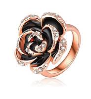 Кольцо Черная роза