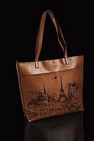 """Женская сумка """"Париж графика"""""""