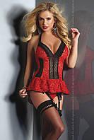 Красивый красно-черный корсет Livia corsetti Red Rose