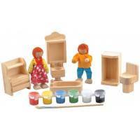 Набор для творчества Мир деревянных игрушек Ванная комната (Д246)