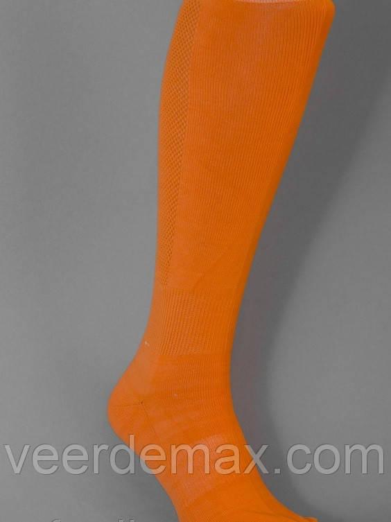 Футбольні гетри однотонні ( щільні, посилена п'ята і носок) Колір - помаранчевий