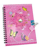 Блокнот с замком для девочек розовый 2 ключа18х13,5х1см (29824A)