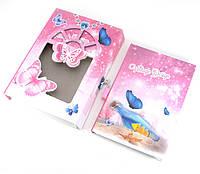 Блокнот с замком для девочек розовый 2 ключа20,5х14,5х3,5см (29801)