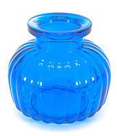 Колба для кальяна стекло синяя 9х9х9см внутренний d-4см (29833C)