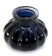 Колба для кальяна стекло черная 8х10х10см внутренний d-4см (22397B)