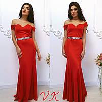Вечернее платье макси (дайвинг)