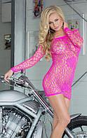 Сексуальное платье - сетка Sweetheart (цвет розовый и чёрный)