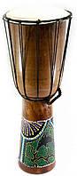 Барабан расписной дерево с кожей 50х19х19см (30190)
