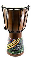 Барабан расписной дерево с кожей 40х19х19см (30188)