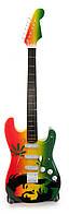 """Гитара """"Bob Marley"""" миниатюра дерево 24х7,5х1,5см (29869)"""