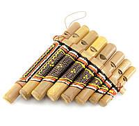 Флейта Пана расписная бамбук 15,5х12х3см (29997)