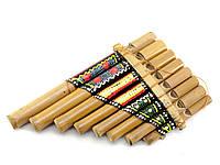 Флейта Пана расписная бамбук 19,5х12,5х3,5см (29998)