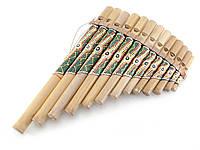 Флейта Пана расписная бамбук 27,5х18х5см (29874)