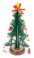Новогодняя ёлка деревянная 23х14,5х14,5см (29534)