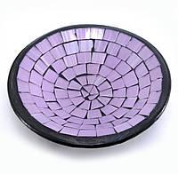 Блюдо терракотовое с фиолетовой мозаикой (11х11х3 см)