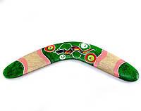 Бумеранг расписной зеленый 31,5х10х1см (30215A)