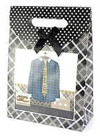 """Пакет подарочный картон """"Одежда"""" 19,5х8,5х27см (29825A)"""