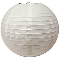 Фонарь белый бумажный, подвесной шар d-30см (29764)