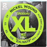 Струны D'Addario EXL165TP Regular Light Top/Medium Bottom 45-105 2 sets