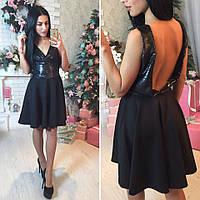 Платье, ткань- верх-паетка с подкладкой,низ-дайвинг