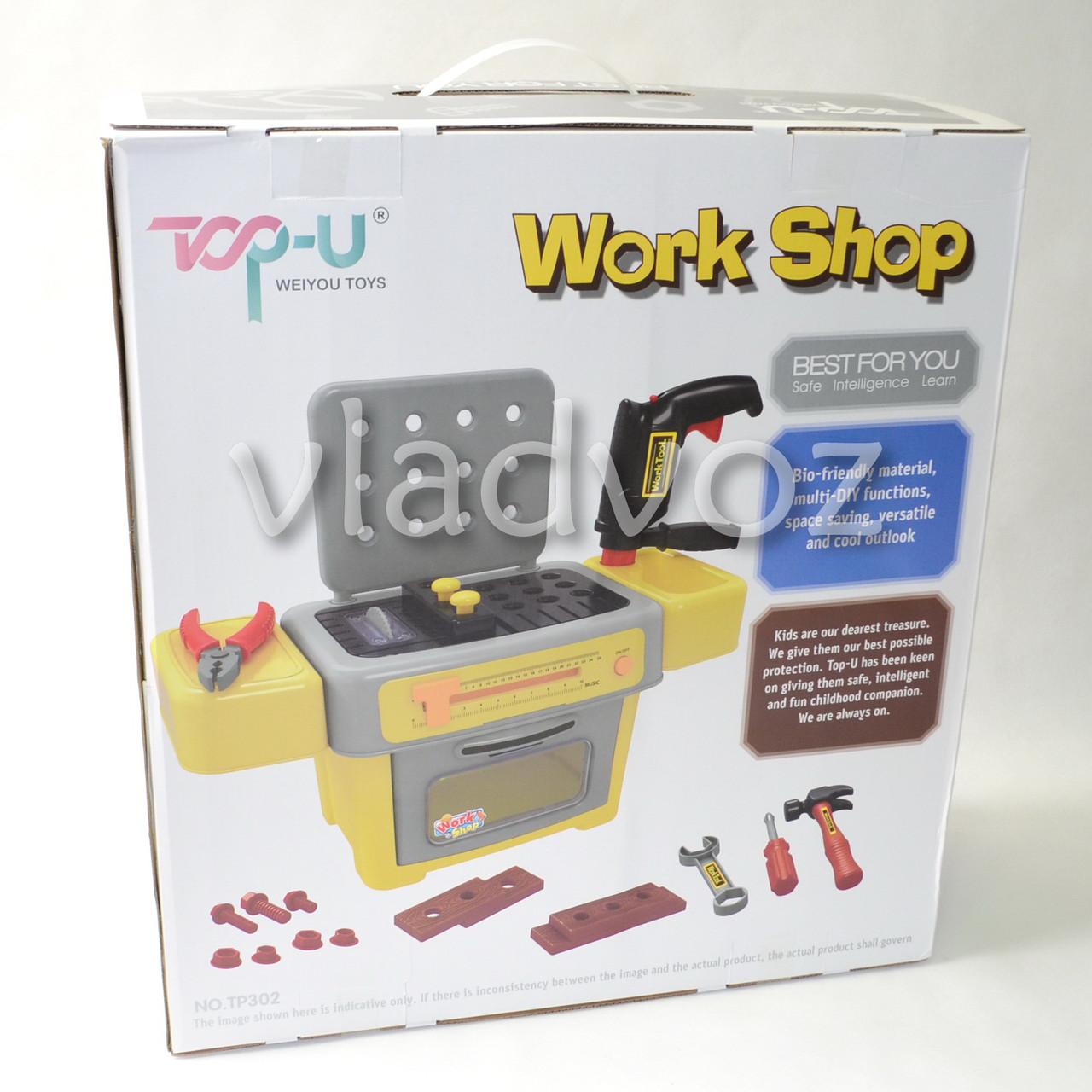 Аксессуары в детском наборе инструментов в коробке