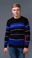 Мужской свитер в полоску оптом