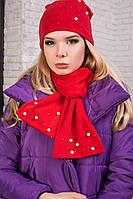 Женский комплект на голову шапочка с шарфом