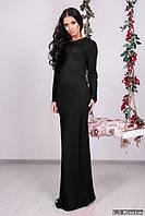 Женское вечернее платье цвет черный 301/1