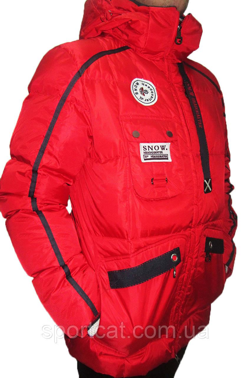 Мужская горнолыжная куртка Snow Headquarter Omni-Heat, красная P. 2XL