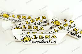 Жаккардовые этикетки для детской одежды (бабочка)