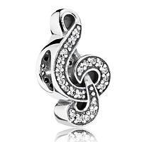 """Шарм бусина Pandora (Пандора) """"Скрипичный ключ"""", фото 1"""