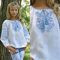 Вышиванка детская для девочки с длинным рукавом