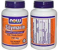 NOW, Milk Thistle Extract, Silymarin + Turmeric (Силимарин + Куркума), 120 капсул