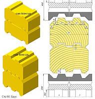 Фрезы собранные в блоки и комбинируемые составные. Экономичный комплект фрез для евроокна 68мм. Спра