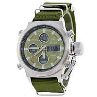Часы мужские AMST - green, стальной корпус и нейлоновый ремешок, фото 1