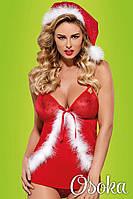 Очаровательной костюм снегурочки Obsessive Santacutie babydoll Красно-белый