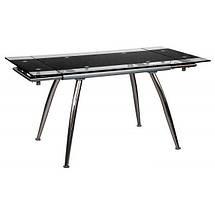 """Стол обеденный раскладной  B179-4 каркас хром, база стола-цвет """"алюм"""", столешница с черной тон, фото 3"""