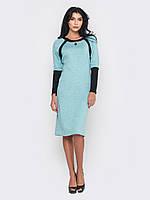 Красивое теплое элегантное женское платье больших размеров из ангоры 90203