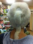 Меховая шапка из серой норки на вязанной основе, фото 7