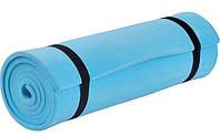 Коврик для фитнеса синий
