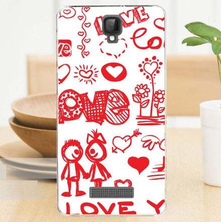 Силиконовый бампер для ZTE Blade L5 Plus / L5 с рисунком Love