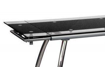 Стол обеденный раскладной B-179-4 каркас хром, база стола-цвет